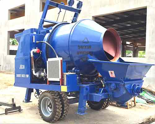 Concrete Mixer with Pump - Aimix Construction Machinery in