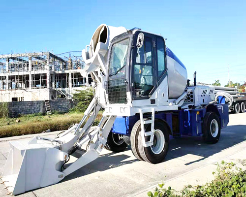 high quality self loading concrete mixer truck