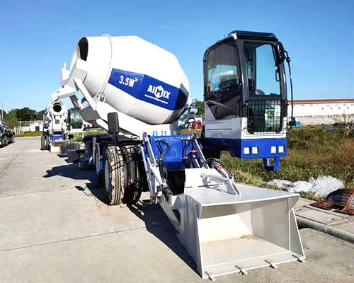 Aimix self loading concrete mixer truck for sale