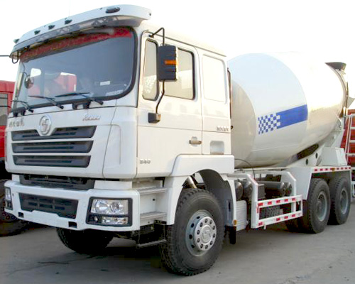 Concrete transport and mixing truck