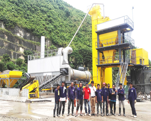 asphalt mixing machine