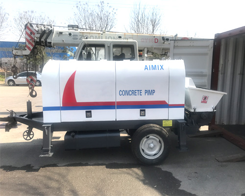 portable concrete pumping machine