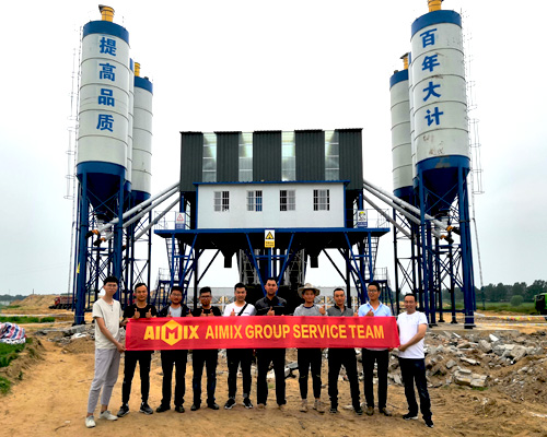 high output concrete plant