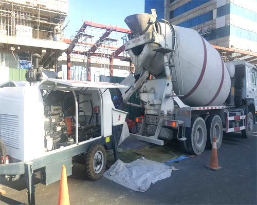 concrete pump for construction work