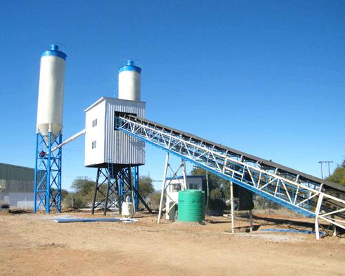 high level concrete mix plant
