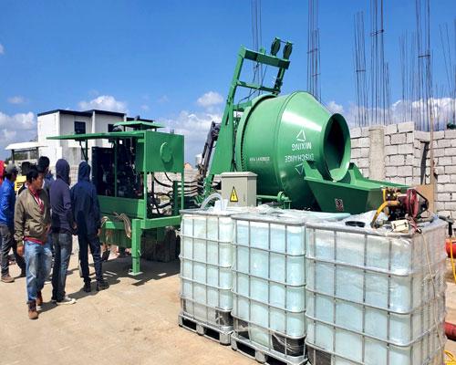 concrete mixer pump with hopper for sale