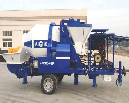 buy aimix concrete mixer pump with hopper machine