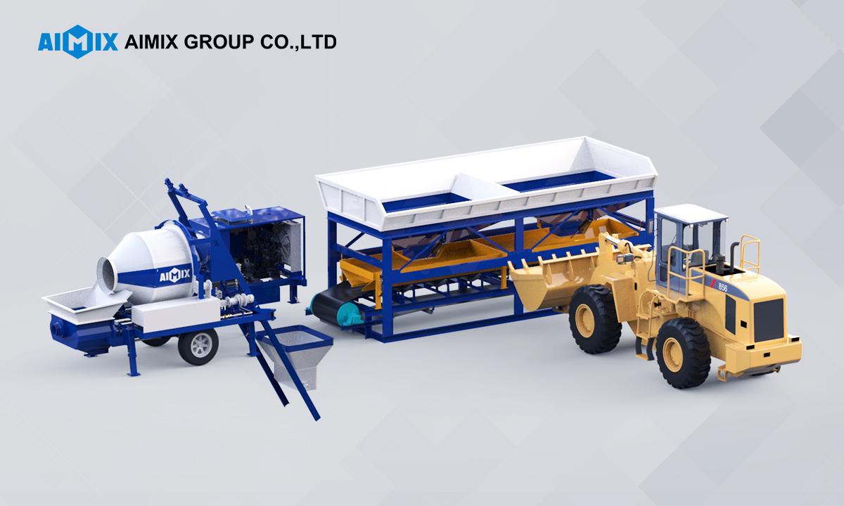 aimix concrete mixer pump equipment