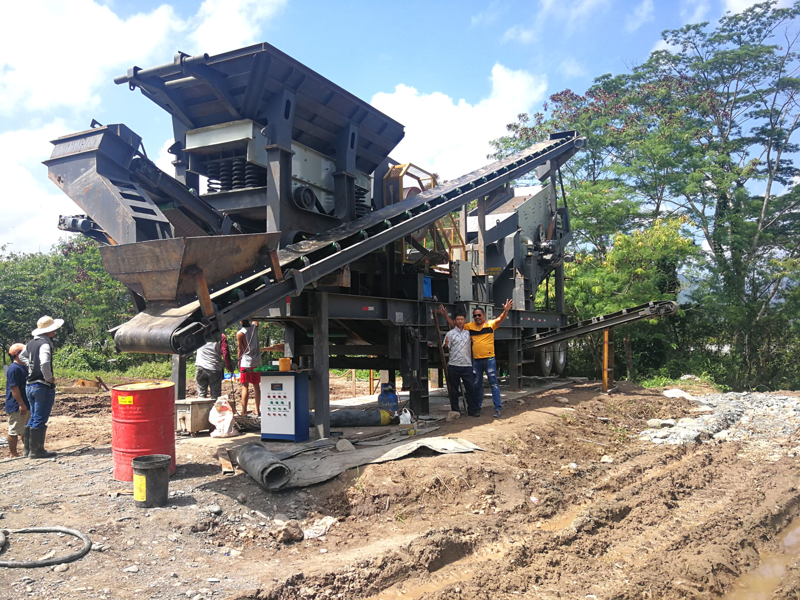 low cost mobile crushing plant in Aimix