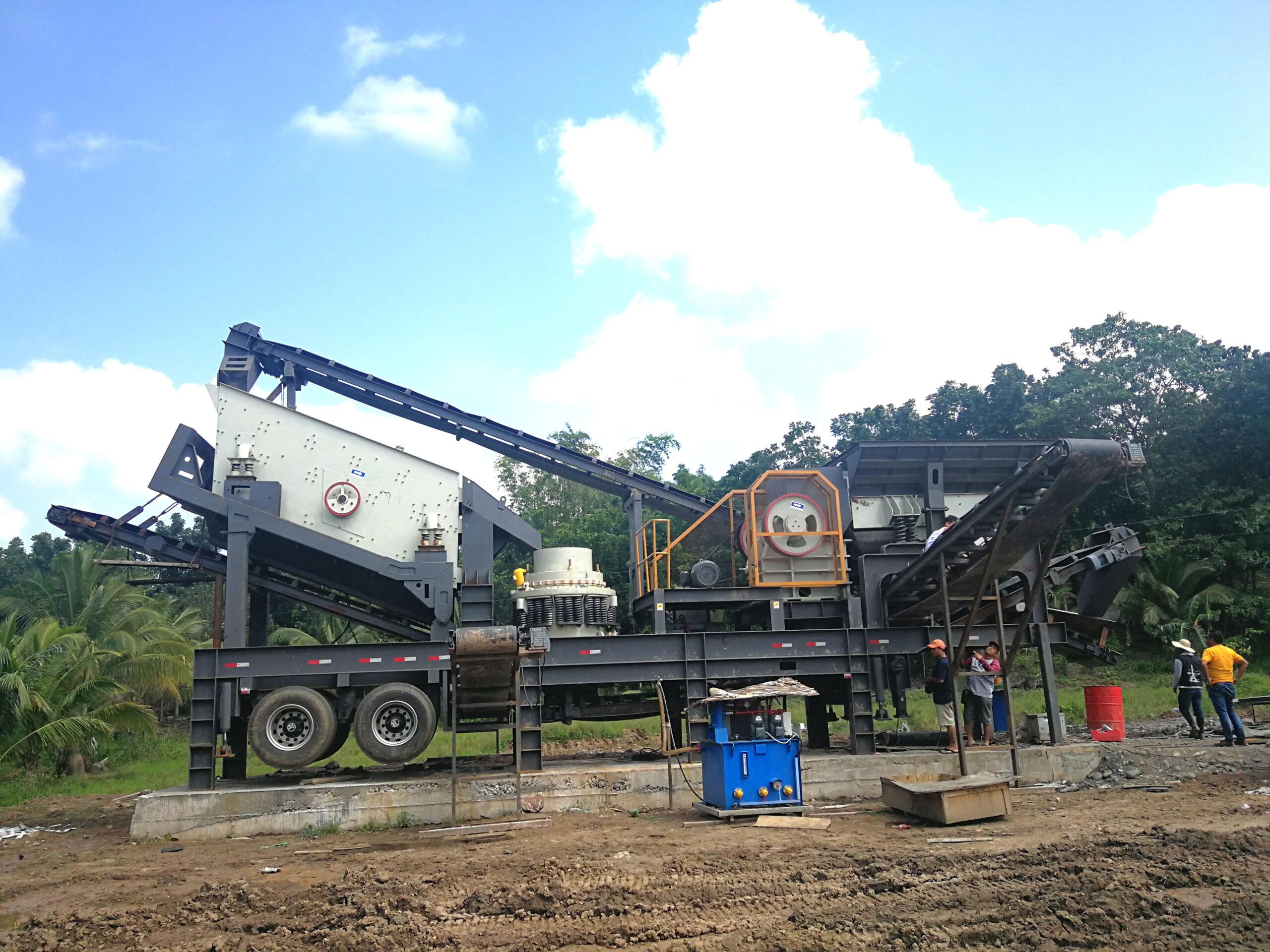 mobile crushing machine