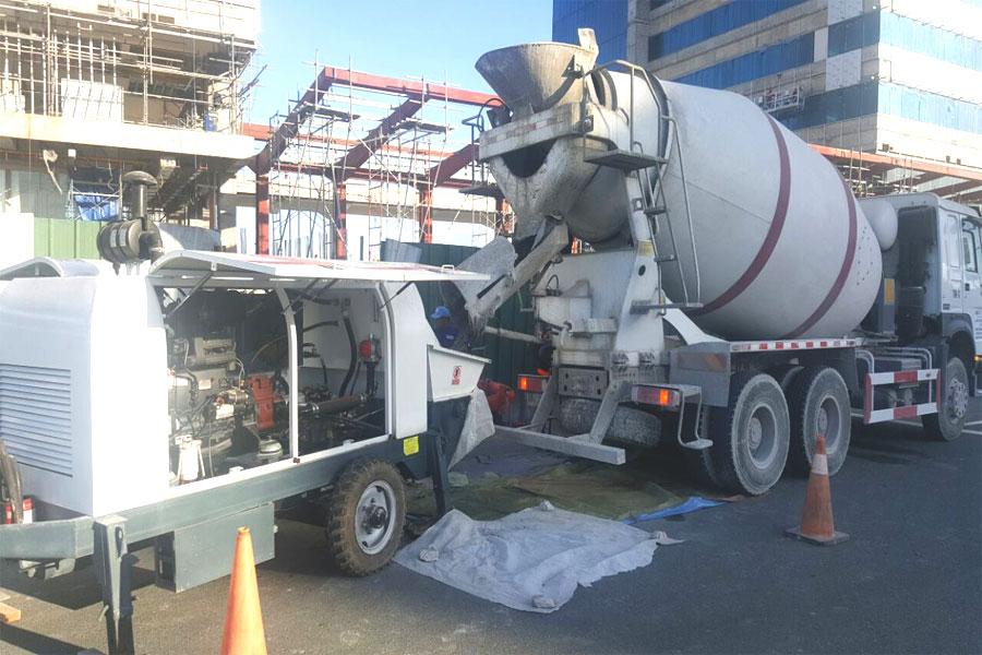 aimix mobile concrete pumping equipment