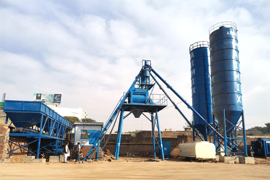 skip hoist conveyor type concrete plant