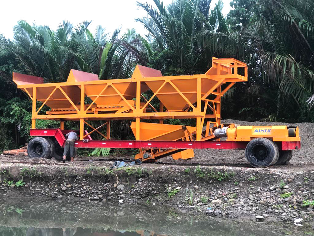 low price drum mixer mobile plant
