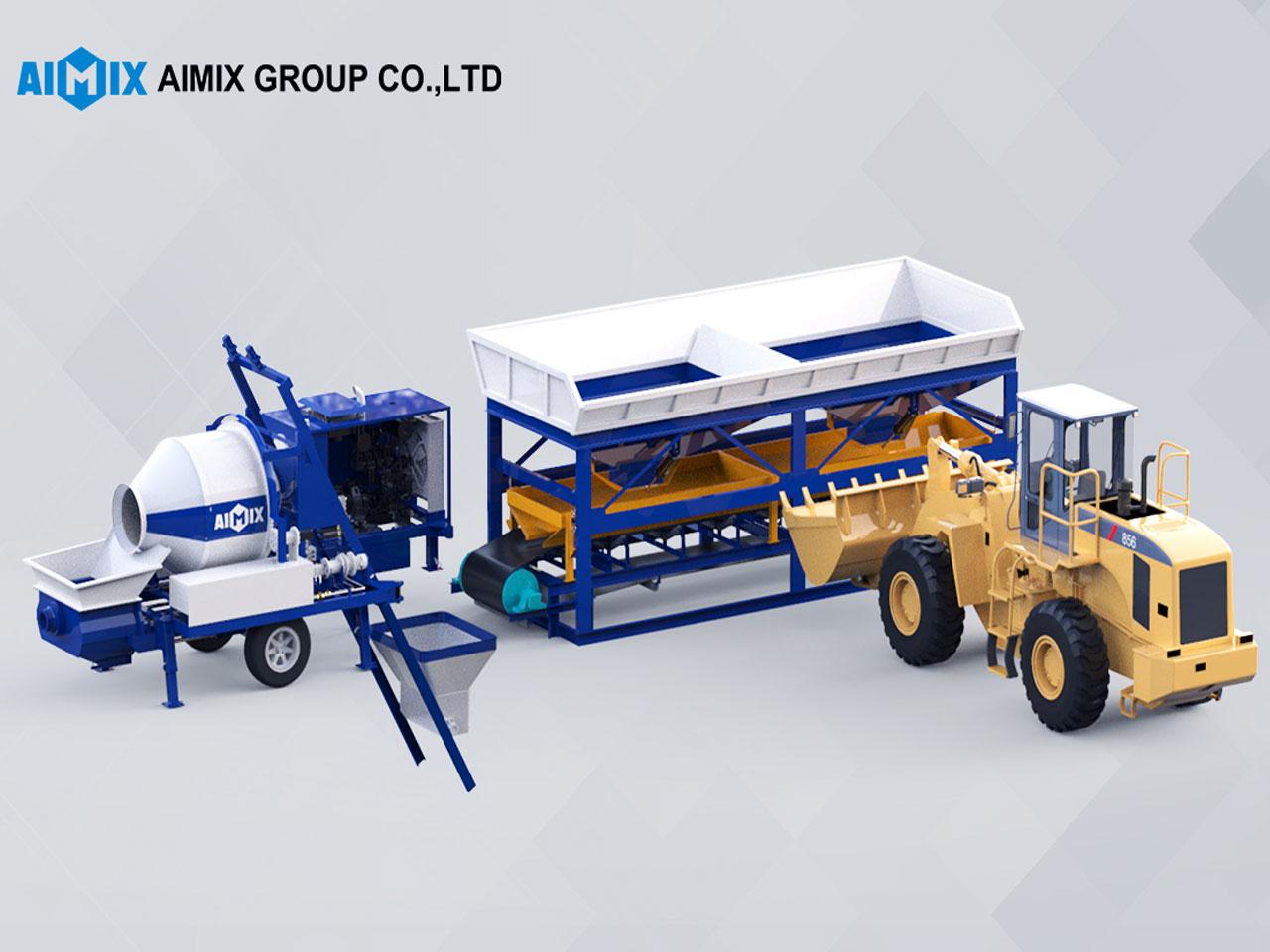 portable concrete mixer pumps