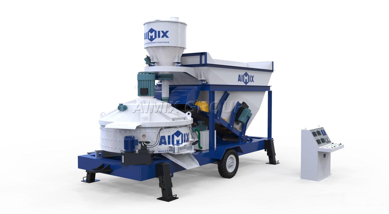 truck mounted concrete mixer plant