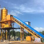 Belt Type Concrete Batching Plant for Sale in Sri Lanka