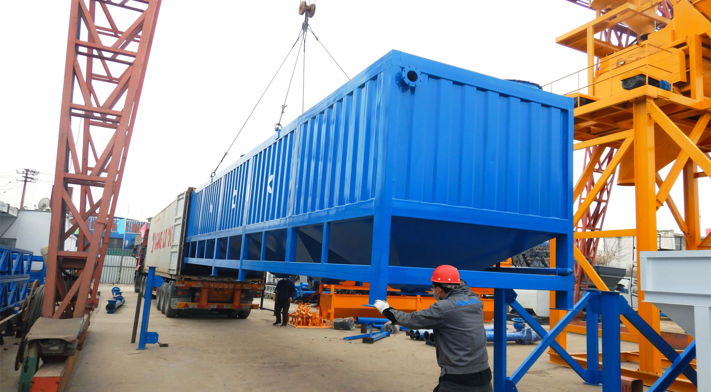horizontal storage silos