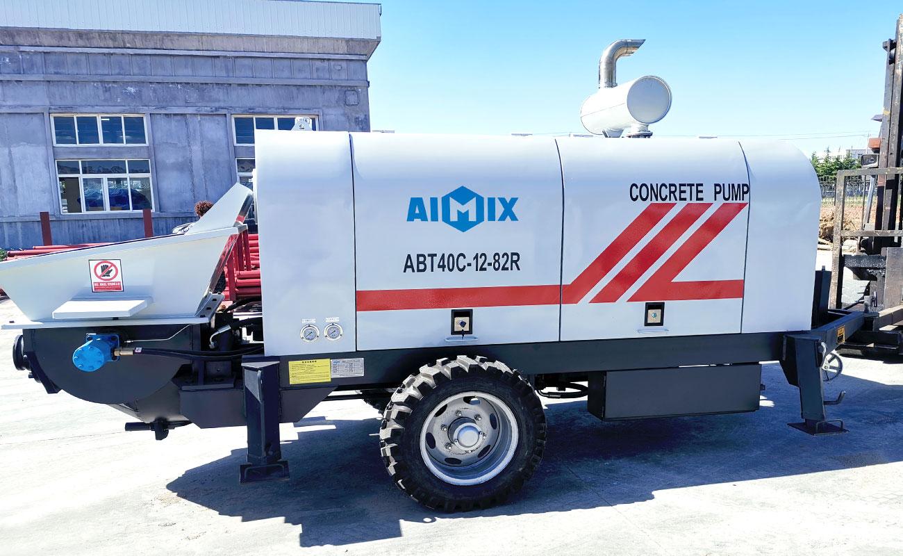 trailer mounted concrete pump